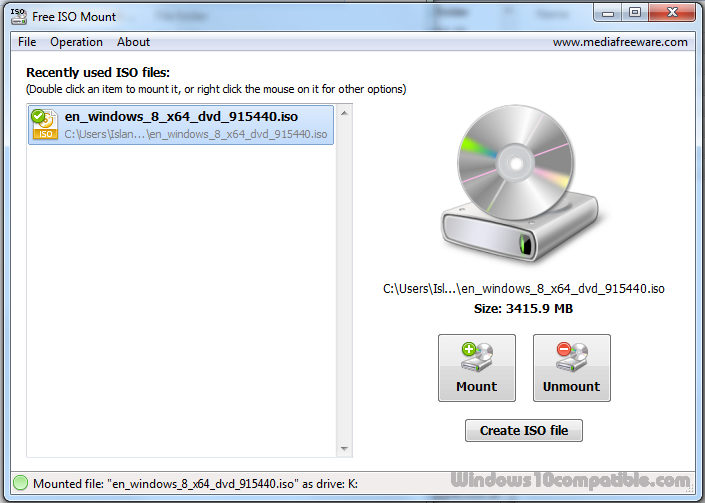 Free ISO Mount 1 0 Free download